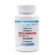 Beta Caroten cu Seleniu - pentru ochi, piele, par si oase - 60 cps