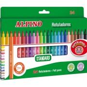 Carioca lavabila, 24 culori/cutie, ALPINO Standard
