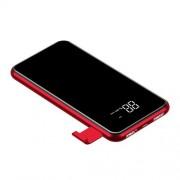 Baterie externa Baseus Full Screen Bracket Wireless Charge Qi Power Bank 8000mAh , Negru / Rosu