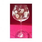 6 verres à vin super 60cl taillé raisin