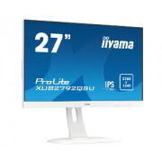 iiyama 27' WHITE, ETE ULTRA SLIM LINE, 2560x1440 WQHD, IPS, 5ms, FreeSync, 13cm height adj. stand, 350cd/m², VGA, HDMI, DisplayPort, Speakers, USB-HUB(2x3.0)