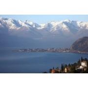Nils Bergmann Plakat woda, góra, Włochy, jezioro, panorama