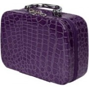 Dholakiya Box with Magnifying Compact Mirror Makeup, Jewellery Travel Toiletry Kit Travel Toiletry Kit(Purple, Multicolor)