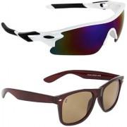 Zyaden Combo of 2 Sunglasses Sport and Wayfarer Sunglasses- COMBO 2782