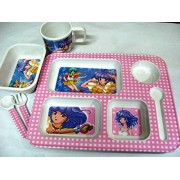 Art box BEAUTIFUL GIRLISH print complete Ceramic meal set for kids ( all in one ) Birthday gift