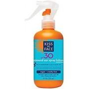 Kiss My Face Mineral Sun Spray Natural Sunscreen Lotion SPF 30 Sunblock, 8 Ounce