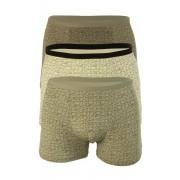 Orest bambus boxerky - trojbal M světle šedá