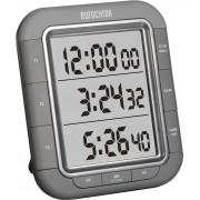 Timer digital display cu trei rânduri Eurochron EDT 9000, negru