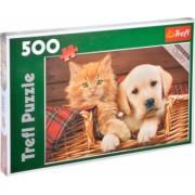 Puzzle cu animalute pisicuta si catelus 500 piese Topi Dreams
