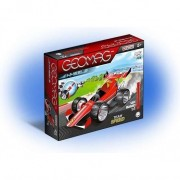 Set de constructie magnetic Geomag, Wheels red Team Speed, 25 piese