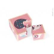 JANOD Klocki drewniane Puzzle 6w1 Zwierzątka,