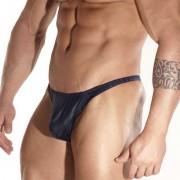 Don Moris Black Line Printed Thong Underwear Dark Blue DM031774