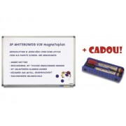 TABLA MAGNETICA MAGNETOPLAN 60x45 cm + CADOU!!! (Burete magnetic + 2 markere) Tabla magnetica (Whiteboard) Aluminiu 45x60 cm