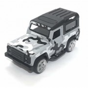 Metal Military Jeep Toy for Kids with Pull Back and Go Grey/Green and Black Color