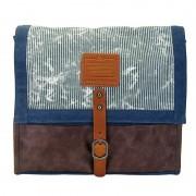 Licence 71195 Jumper Canvas Messenger Bag Navy LBF10927-BL