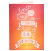 QUEUED FOR DELETION Fruitage of the spirit - Galatians 5:22, 23 - (Scriptural Greeting Card)