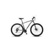Bicicleta Colli Mtb High Performance Cinza Aro 29 Alum. Kit Shimano 21M Susp. Dianteira Freios A Disco