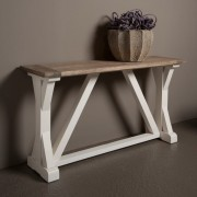 Tower Living Palermo Side-table 145 cm Wit Grenenhout