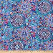 Free Spirit Fabrics Kaffe Fassett Millefiore Aqua Fabric by The Yard