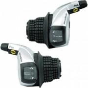 Manete Schimbator Tourney Rs-45 Revo 3+8 Viteze Set Stanga+Dreapta Cu Afisaj Negre