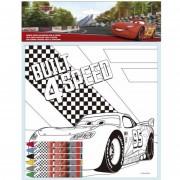 Disney tela da colorare 20 x 20 + 6 pastelli cera cars