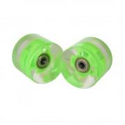 Sportmann Roata LED penny board ABEC 7 verde-2 bucati
