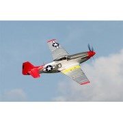"""FMS P-51D Mustang Red Tail V8 RC Airplane 6CH 1400mm (57"""") Wingspan with Flaps LED Retracts PNP Remote Control Warbird"""