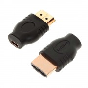 Female Micro HDMI Type D to Male HDMI Type A adapter