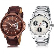ADK JG-02-LK-101 Brown & White & Black Dial DAY & DATE Functioning Watches for Men