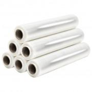 vidaXL Role de folie pentru paleți, 6 buc., transparent, 17 µm, 840 m