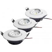 Designlight LED downlight 3-pack 3W 3000K BASIC kit
