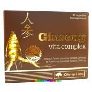 Zen-Szen Ginseng Vita-Complex 30 db kapszula, Panax és Amerikai ginzeng kivonat, 12 vitaminnal - Olimp Labs