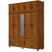 Guarda roupa Finestra 1732 Onix Tripartido 11 Portas com espelho