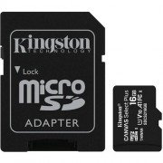 Kingston 16GB microSDHC Canvas Select Plus A1 CL10 100MB/s + adaptér