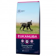 15kg Growing Puppy Large Breed Eukanuba ração cão