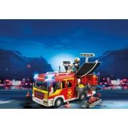 Masina de pompieri cu lumini si sunete Fire Brigade Playmobil