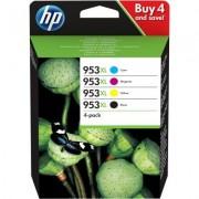 HP Confezione da 4 cartucce di inchiostro nero/ciano/magenta/giallo originali ad alta capacità 953XL