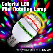 Bec Economic Rotativ Multicolor cu LED 3W