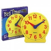* Big Time Learning Clocks 12-Hour Demonstration Clock for Grades K-4