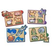 Cutie cu minipuzzle Animale