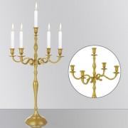 Świecznik 5 Ramienny Kandelabr Złoty Antyczny 78cm