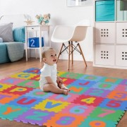 Homcom Alfombra Puzzle Infantil con Letras y Números de Espuma EVA 36 Piezas HomCom