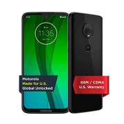 Motorola Moto G7 Desbloqueado 64 GB Cerámica Negro (Garantía de EE.UU.) Verizon, AT&T, T-Mobile, Sprint, Boost, Cricket y Metro