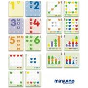 Macis matek készlet műanyag kofferben , oktatójáték, Miniland