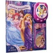 Disney. Muzica printeselor. 4 povesti muzicale carte + miniCD + CD player 20 melodii