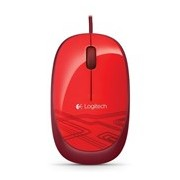 Logitech M105 Mouse - USB - Optical - Red