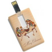 100yellow Merry Christmas Printed Credit Card Shape 8GB Pen Drive - For Gift 8 GB Pen Drive(Multicolor)