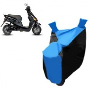 KAAZ Blue with Black Two Wheeler Cover For Electric Cruz Hero Electric Bikes