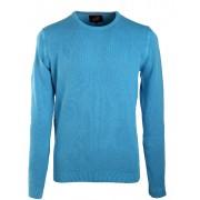 Suitable Pullover Rundhals Aqua Blau - Blau Größe L