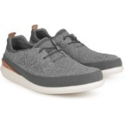 Clarks Pitman Run Grey Casual Shoes For Men(Grey)